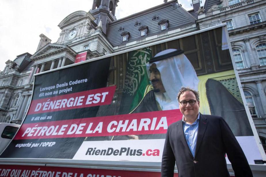 Le commentateur de droite Ezra Levant a payé... (Photo Olivier Pontbriand, La Presse)