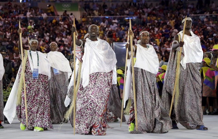 La délégation du Burundi (AP, David J. Phillip)