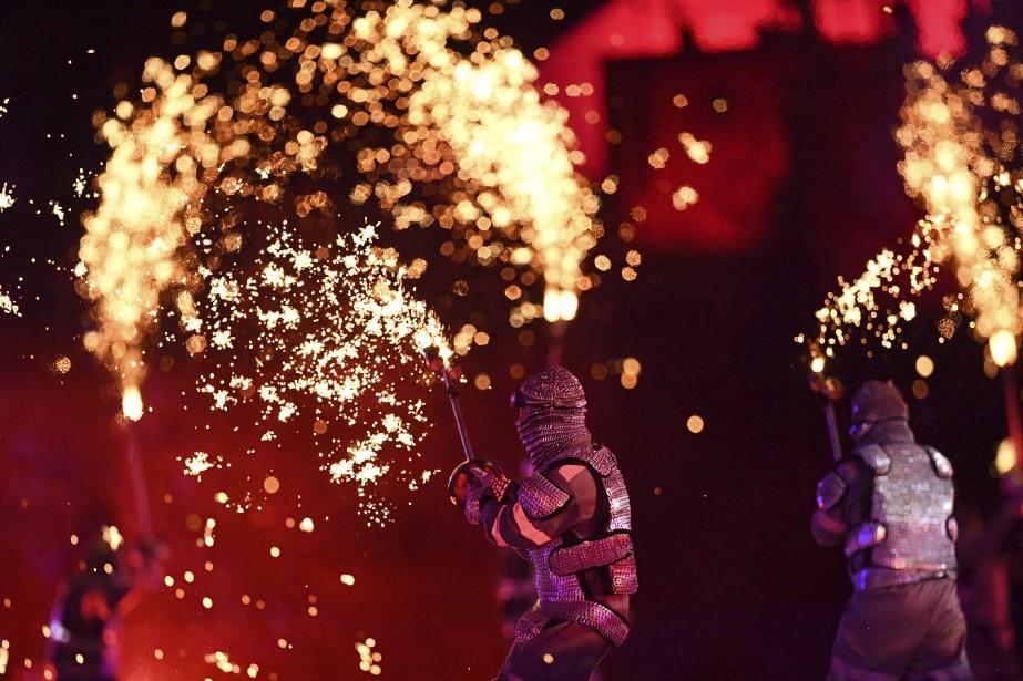 Le spectacle a duré plus de trois heures. (AFP, Leon NEAL)