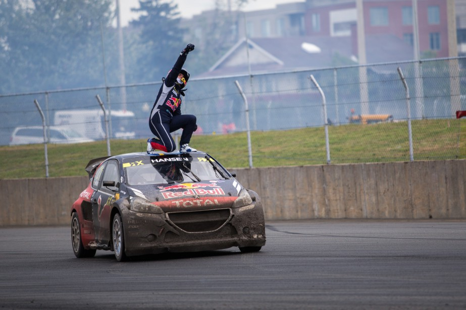 Timmy Hansen a remporté l'épreuve du Canada de rallycross. | 7 août 2016
