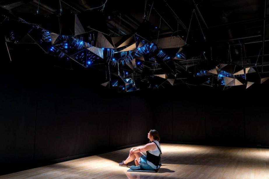 Oeuvre d'Elisabeth Picard installée au Centre d'exposition Raymond-Lasnier,... (Photo Jean-Michael Semiaro, fournie par la 7eBiennale nationale de sculpture contemporaine)