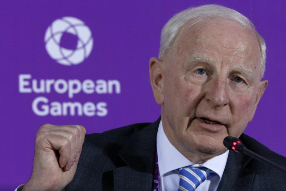 L'Irlandais Patrick Hickey,chef des Comités olympiques européens (EOC).... (PHOTO Dmitry Lovetsky, archives AP)