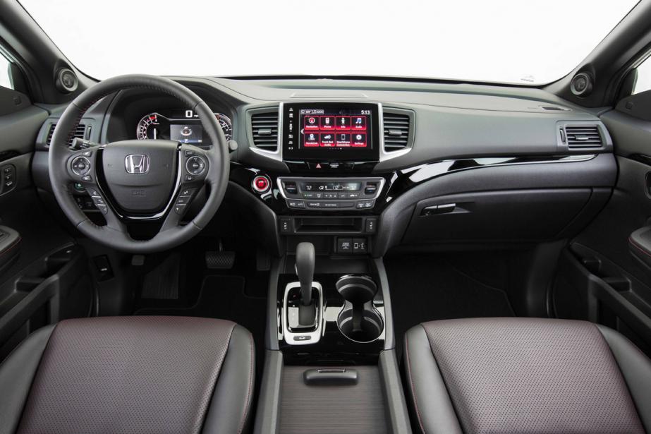 L'intérieur du Honda Ridgeline (Photo fournie par le constructeur)