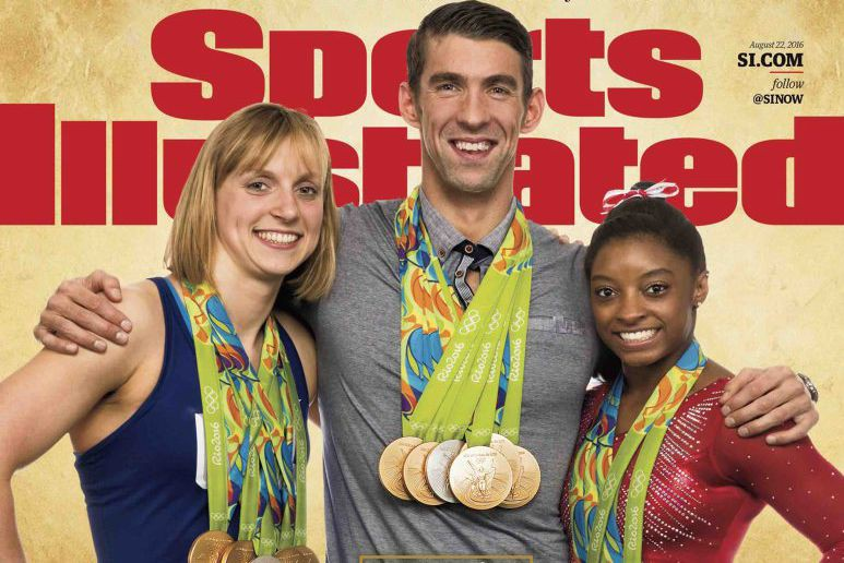 Michael Phelps sur lacouverture du dernierSports Illustrated.... (Photo Simon Bruty/Sports Illustrated via AP)
