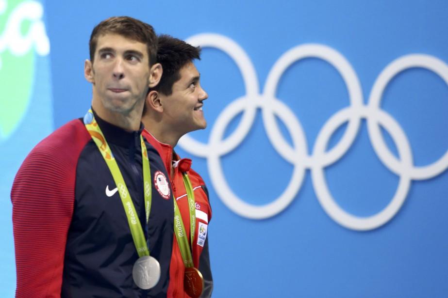Le nageur Joseph Schooling, qui a remporté l'or... (REUTERS)
