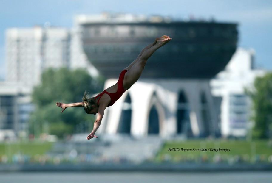 Lysanne Richard lors des Championnats du monde de la FINA, à Kazan, en Russie, en 2015. (Photo courtoisie, fina)