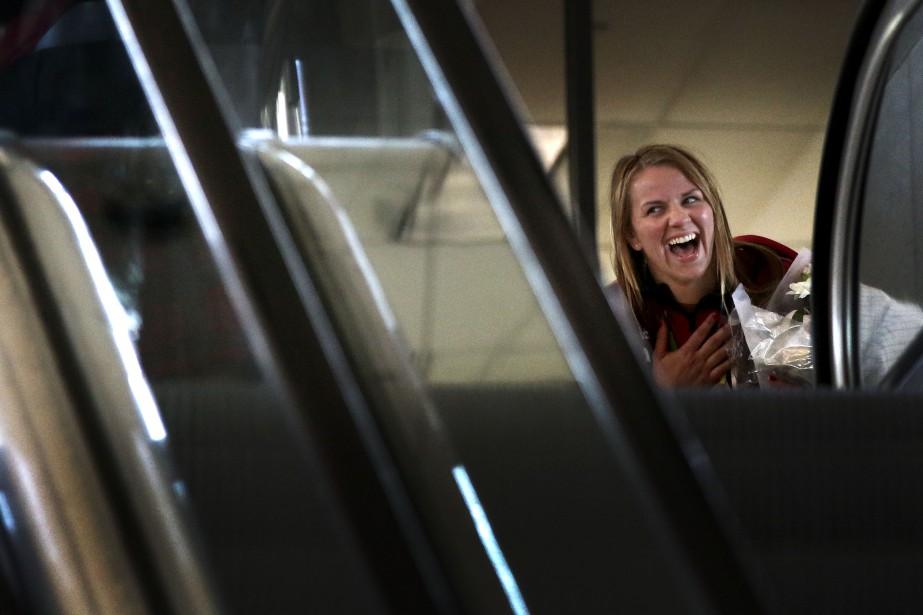 La lutteuse Erica Wiebe, médaillée d'or chez les moins de 75 kg et originaire deStittsville (Patrick Woodbury, LeDroit)