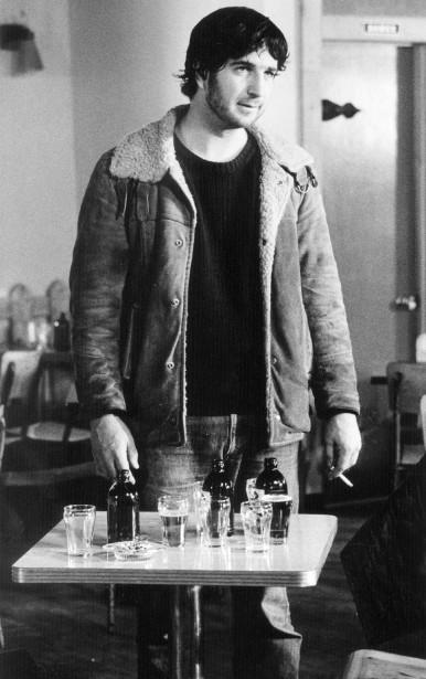 André Melançon dans une scène du film Taureau (1973) réalisé par Clément Perron. (Photo Georges Dufaux, fournie par l'Office national du film)