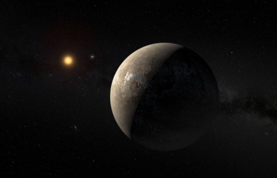La planète Proxima b, sur une image réalisée... (Photo ESO/M. Kornmesser, Reuters)