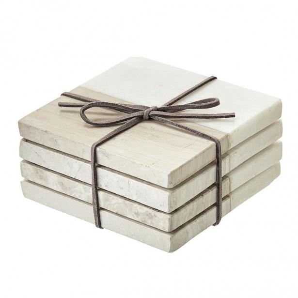 Sous-verres en pierre et en marbre (9,99 $) (Fournie par HomeSens)