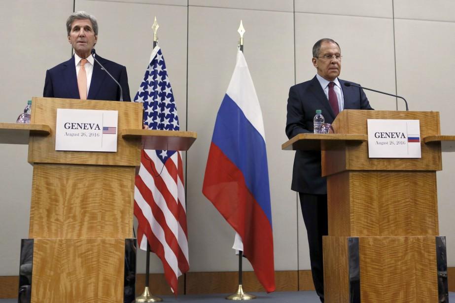 Les États-Unis et la Russie ont fait état vendredi à Genève de... (REUTERS)