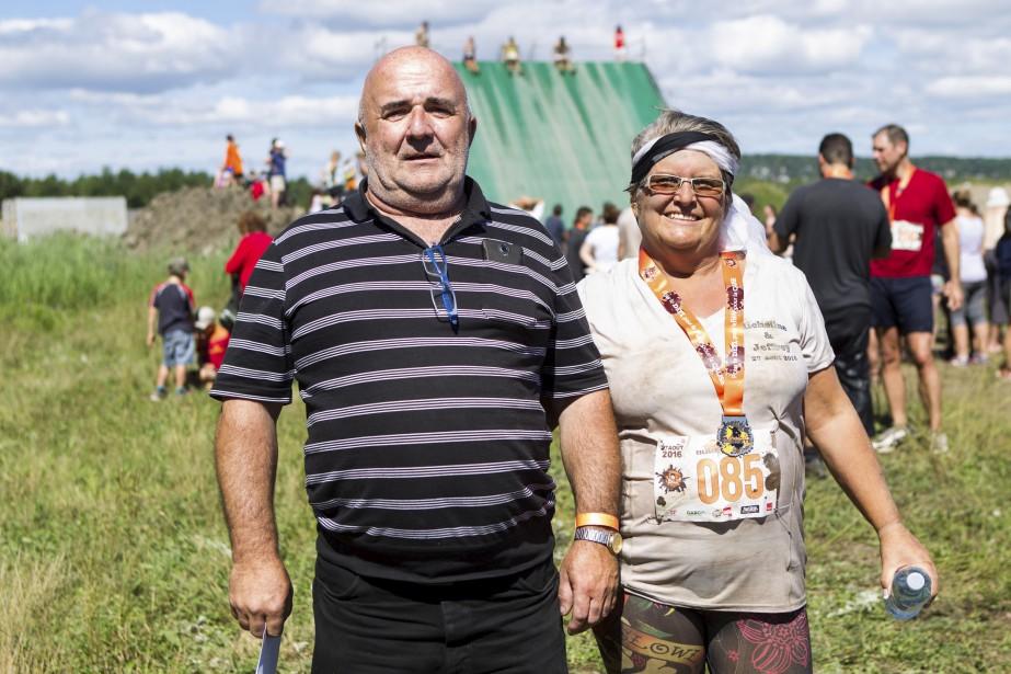 Micheline Baril avec celui qui allait devenir son mari plus tard dans la journée,Jeffrey Hayes. (Le Soleil, Caroline Grégoire)