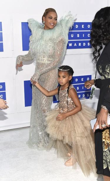 Beyoncé et sa fille Blue Ivy (AP, Evan Agostini)