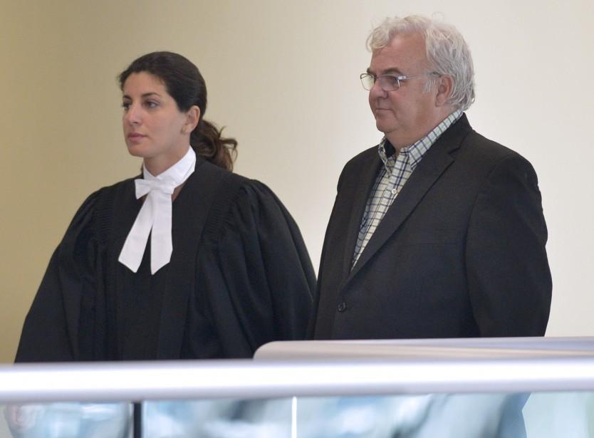 Mario Martel,au palais de justice de Québec, le 29 août (Le Soleil, Yan Doublet)