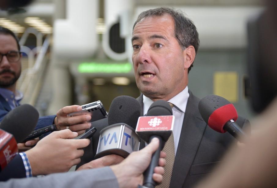 Me René Verret, au palais de justice de Québec, le 29 août (Le Soleil, Yan Doublet)