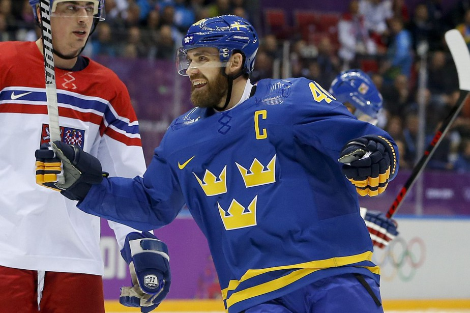 Henrik Zetterberg était le capitaine de la Suède... (Photo Mark Humphrey, archives AP)