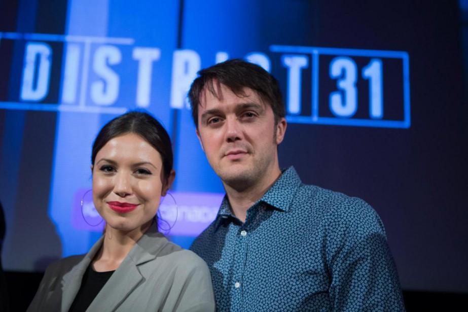 Magalie Lépine-Blondeau et Vincent-Guillaume Otis incarnent lesenquêteurs Nadine... (Photo Olivier PontBriand, La Presse)