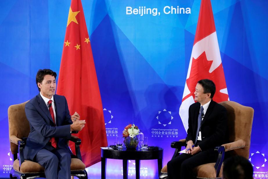 Le premier ministre canadien Justin Trudeau a rencontré... (PHOTO JASON LEE, REUTERS)