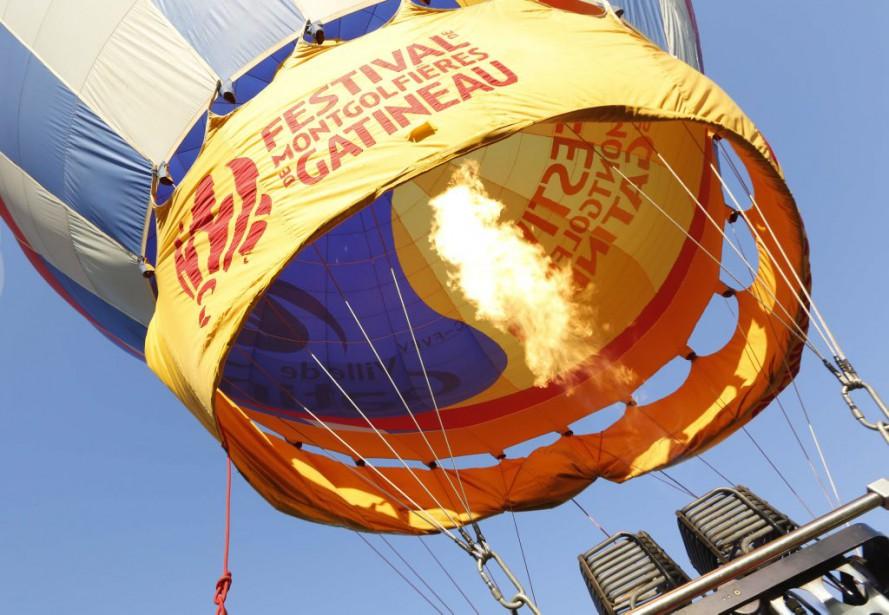 Dernière envolée de la fin de semaine au festival des montgolfieres de Gatineau. (Simon Séguin-Bertrand, LeDroit)