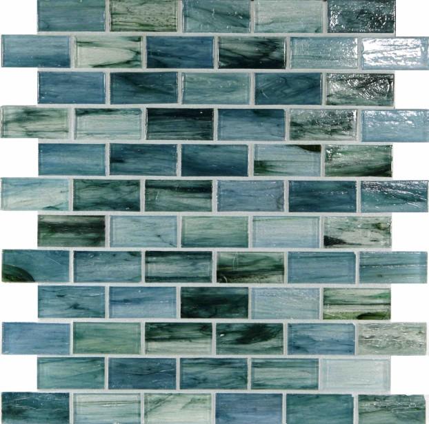 Un des agencements de bleus de la collection Spa de Céragrès (Fournie par Céragrès)