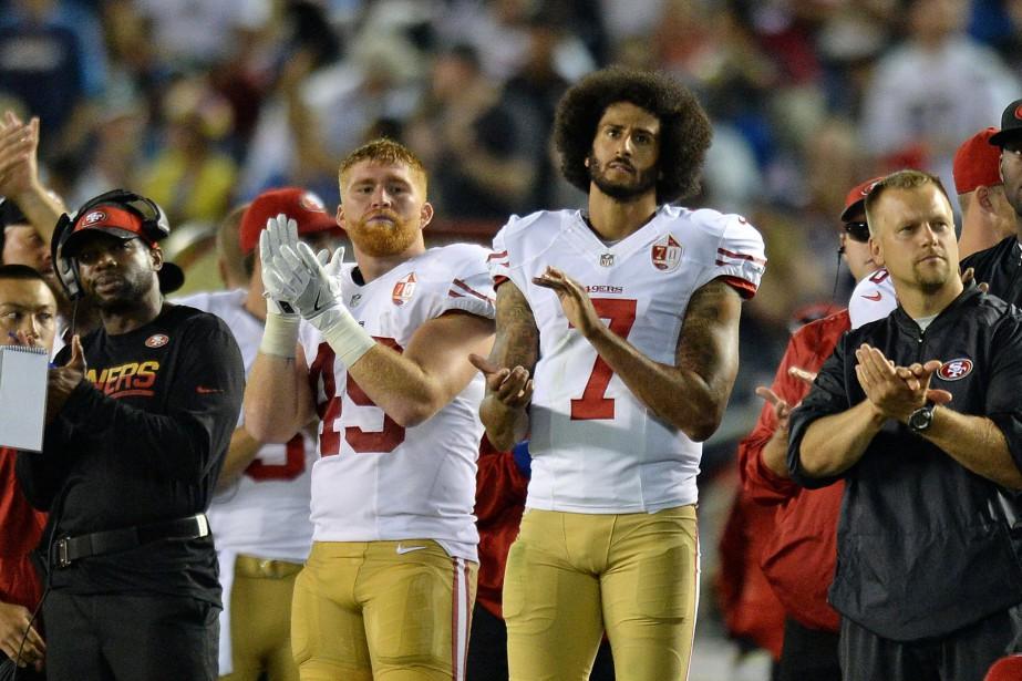 Les Niners ont vite exprimé leur appui au... (PHOTO Jake Roth, USA Today Sports)