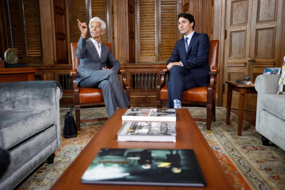 Le premier ministre Justin Trudeau a renconté, mardi,la... (PHOTO Chris Wattie, REUTERS)