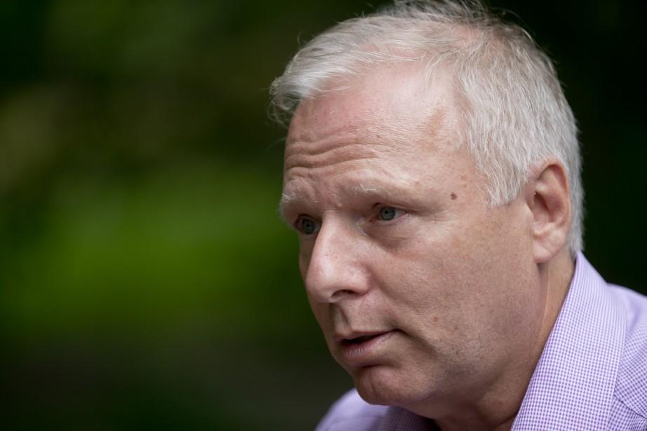 Le candidat à la direction du Parti québécois,... (PHOTO DAVID BOILY, LA PRESSE)