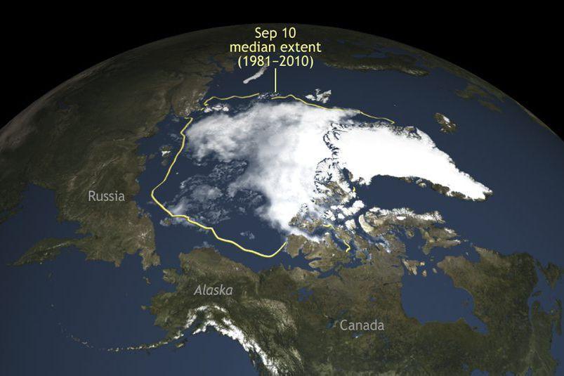 Selon le Centre national de données sur la... (Photo National Snow & Ice Data Center / via AP)