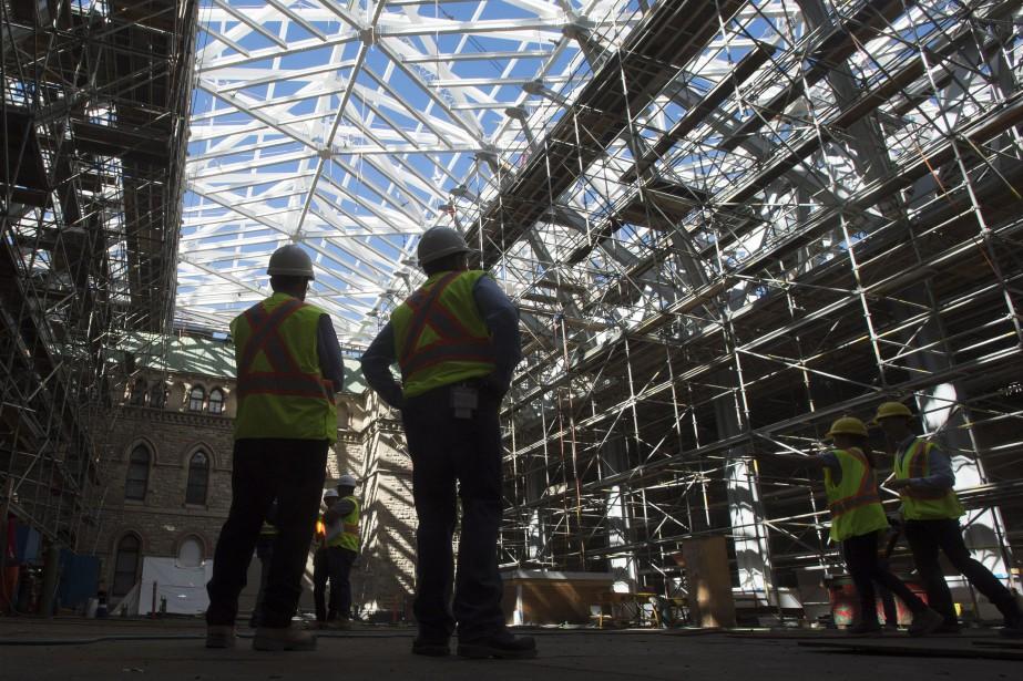 La restauration, qui est décrite par Travaux publics... (Photo Adrian Wyld, La Presse Canadienne)