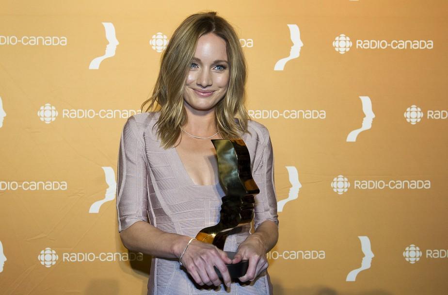 Laurence Leboeuf a gagné leMeilleur premier rôle féminin : série dramatique saisonnière, pour Marche à l'ombre. (Photo La Presse Canadienne)