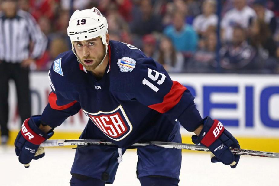 Brandon Dubinsky n'a pas joué contre le Canada... (PhotoAaron Doster, USA TODAY Sports)