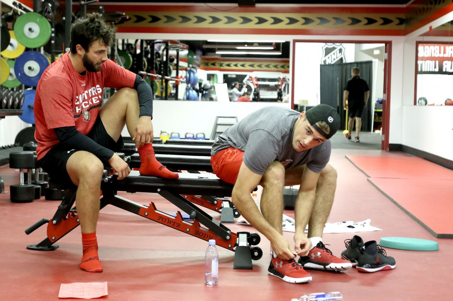 Derick Brassard et Chris Wideman (Patrick Woodbury, LeDroit)