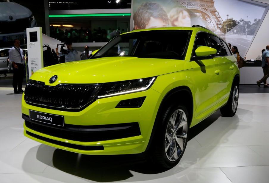 Ce VUS à 7 places Kodiaq, du tchèque Skoda sera produit surtout pour le marché asiatique. C'est un cousin de la version 7 places, 3 rangées du Volkswagen Tiguan, qui sera lancé à la fin de 2017 en Amérique du Nord. (REUTERS)