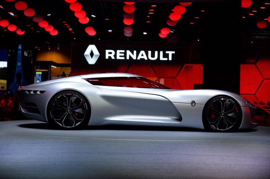 La GT concept tout-électrique Trézor amène sur route des technologies raffinées en en compétition par Renault e.dams, l'équipe deux fois championne en Formule E. Renault promet le 0-100 km/h en moins de 4 secondes. (AFP)