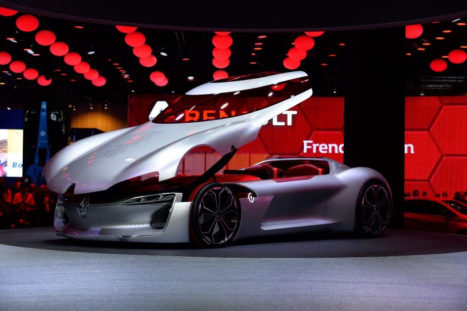 Le prototype Renault Trézor est une étude de style permettant de définir les codes stylistiques de la prochaine génération de véhicules Renault. (AFP)