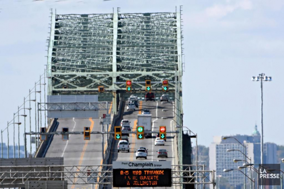 90 des 100poutres extérieures du pont Champlain qui... (PHOTO BERNARD BRAULT, ARCHIVES LA PRESSE)