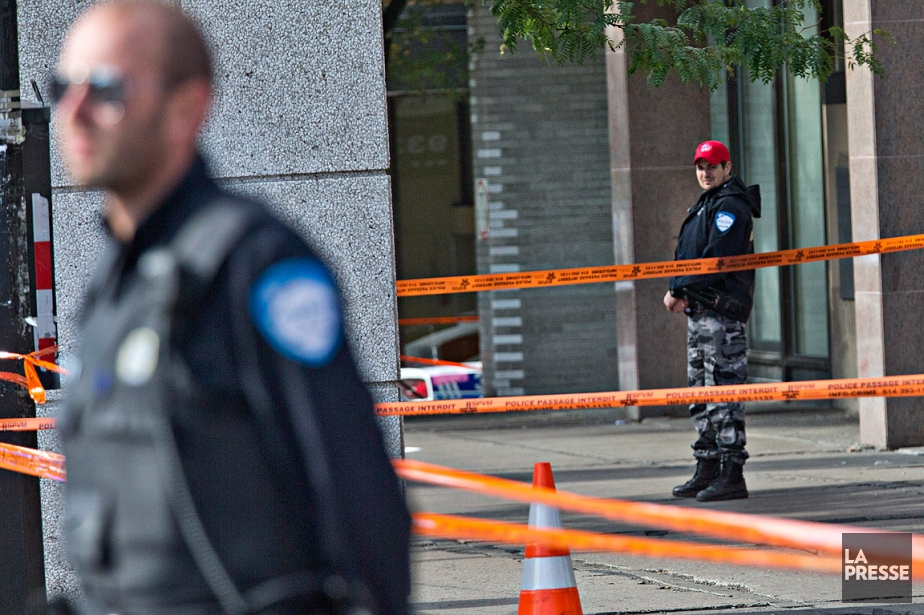 À l'arrivée des policiers sur les lieux, l'homme... (Patrick Sanfaçon, La Presse)