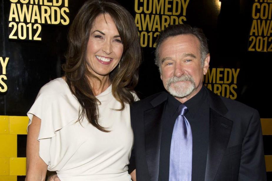 Susan Schneider Williams et Robin Williams en avril... (PHOTO ARCHIVES AP)