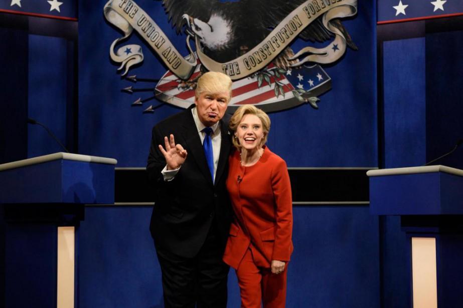 Alec Baldwin a incarné le candidat républicain et... (photoWill Heath, fournie par nbc)