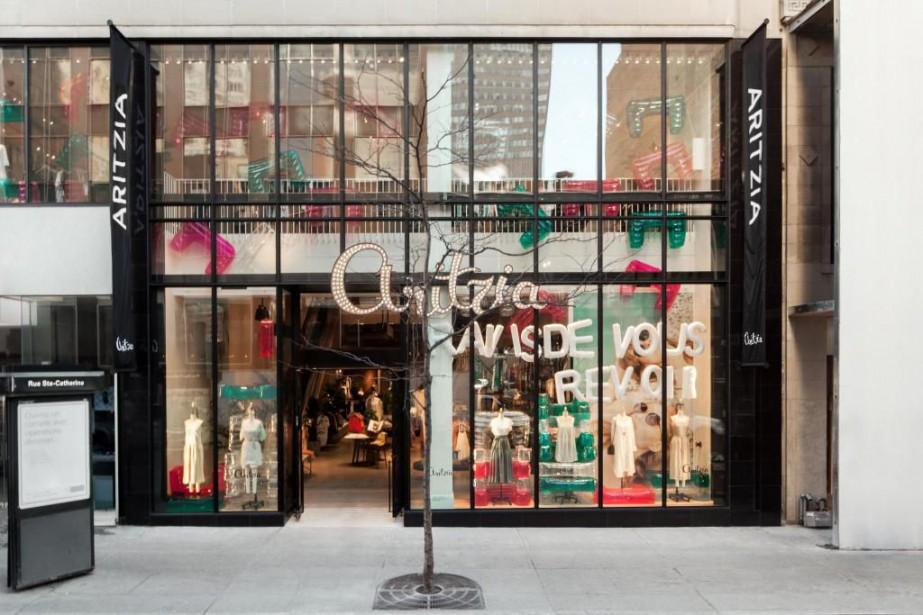 La nouvelle boutique Aritzia de la rue Sainte-Catherine.... (Photo fournie par Aritzia)