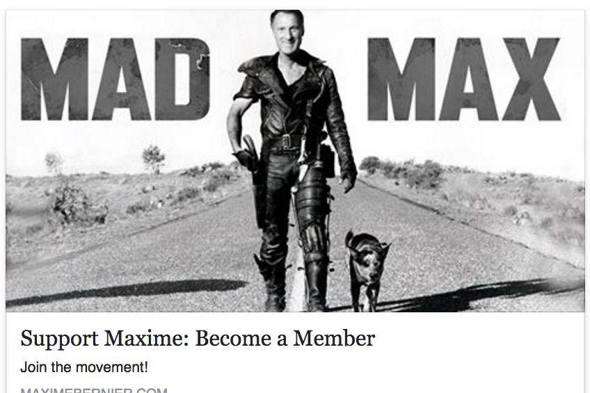 Maxime Bernier s'est attribué le surnom de Mad... (Tirée de Facebook)