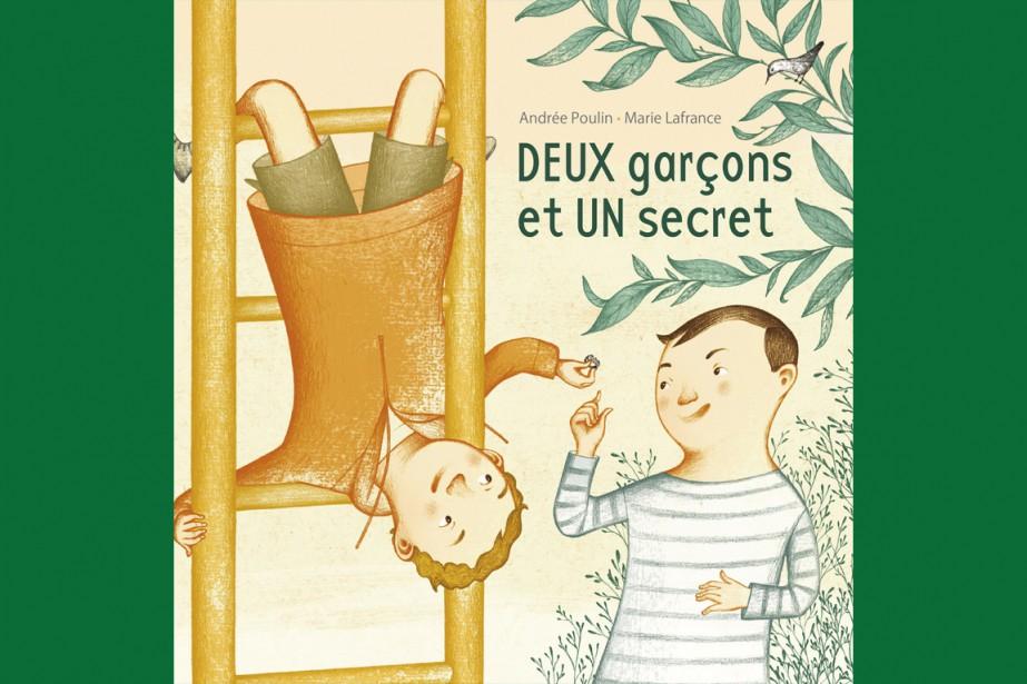<i>Deux garçons et un secret</i>, d'André Poulin, illustré par Marie Lafrance ()