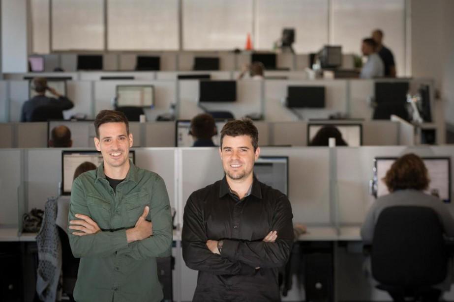 Jean-Philippe Béïque et Dominic Létourneau, cofondateurs d'EBOX Communications.... (PHOTO IVANOH DEMERS, LA PRESSE)