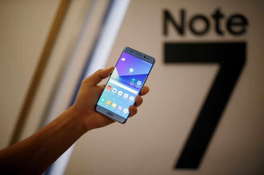 Le lancement du Galaxy Note 7 en août... (PHOTO ARCHIVES REUTERS)