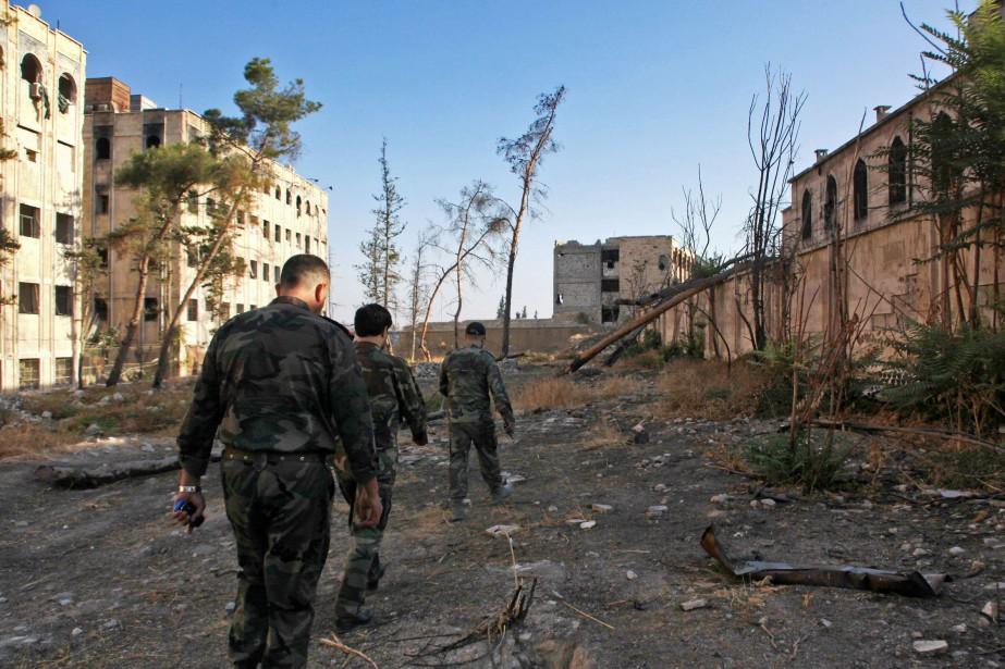Samedi, l'armée syrienne a gagné du terrain face... (Photo archives AFP)