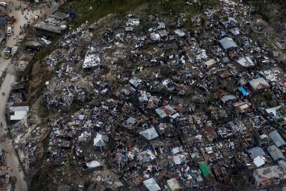 Plusieurs dizaines de maisons ont été détruites à Jérémie. (Photo Carlos Garcia Rawlins, Reuters)
