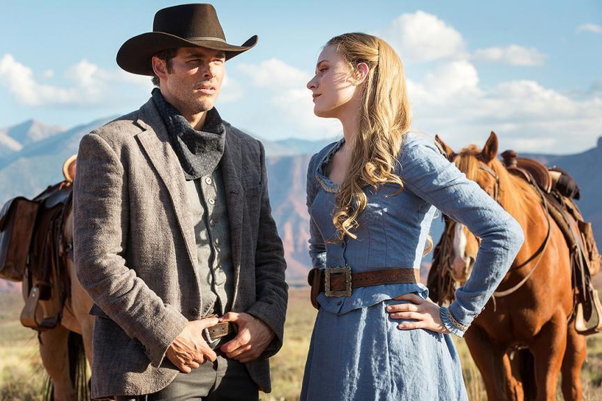 James Marsden et Evan Rachel Wood dans Westworld.... (Photo fournie par HBO)