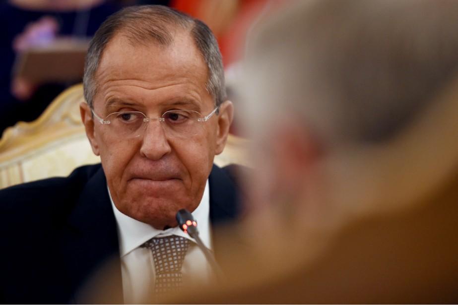Le ministre russe des Affaires étrangères Sergeï Lavrov,... (photo VASILY MAXIMOV, archives AFP)