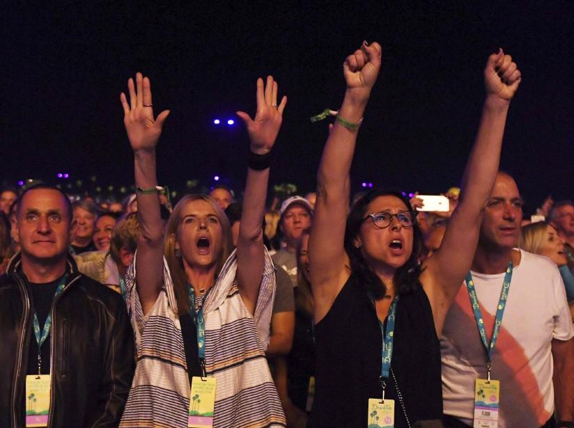 Les Rolling Stones se sont produits dans le désert devant une foule de 75 000 personnes. (AFP, Mark RALSTON)