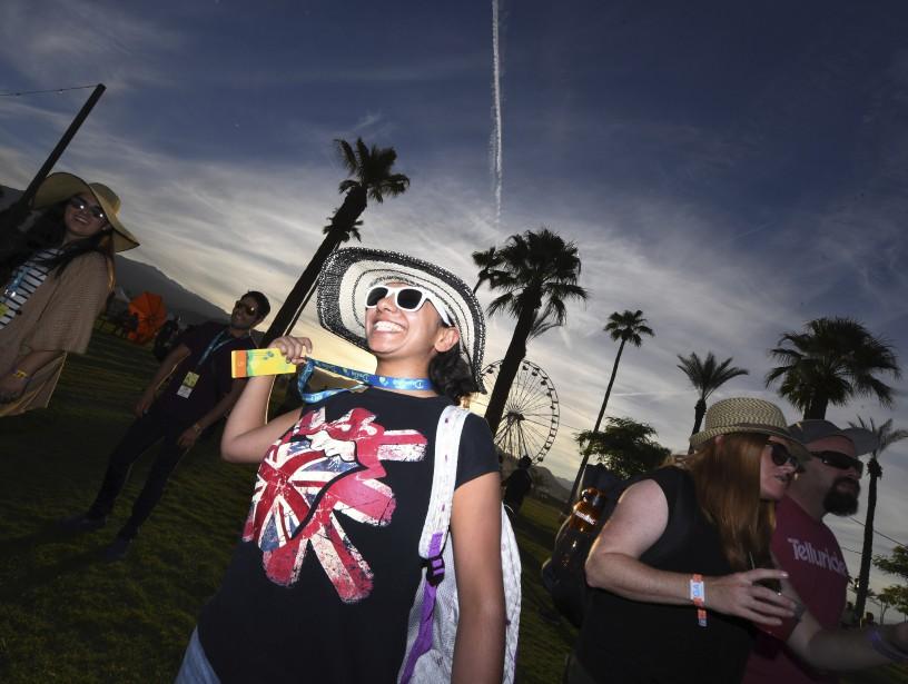 Diana Chavez à son arrivée sur le site pour la prestation des Rolling Stones. (AFP, Mark Ralston)